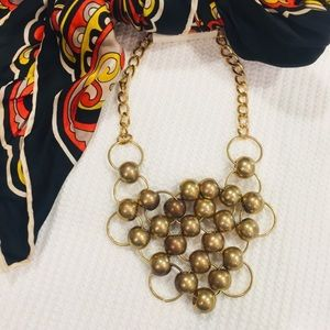 Fashion gold tone accent chunky necklace NWT